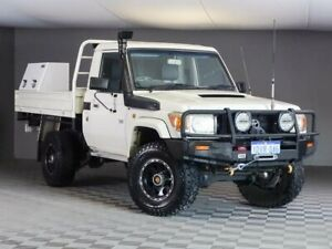 2008 Toyota Landcruiser VDJ79R Workmate White 5 Speed Manual Cab Chassis
