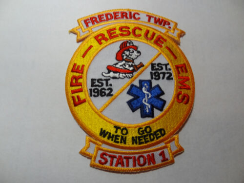 FREDERIC TOWNSHIP MICHIGAN STATION 1 FIRE RESCUE PATCH. EMS.
