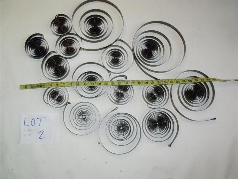 "10 Large 5"" to 10"" Clock main Springs for Altered Art, Steampunk, Sculpture"