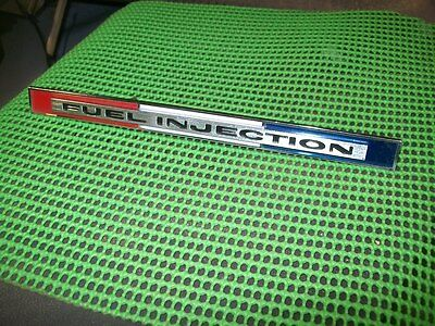 NOS GM 1965 Chevrolet Corvette Fuel Injection Emblem Nameplate Not reproduction