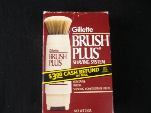 Vintage Gillette Brush Plus Shaving System 1984 New Old Stock