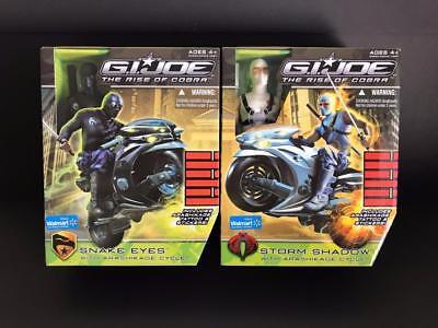 "GI Joe 12"" Snake Eyes & Storm Shadow with Arashikage Cycle - The Rise of Cobra 2"
