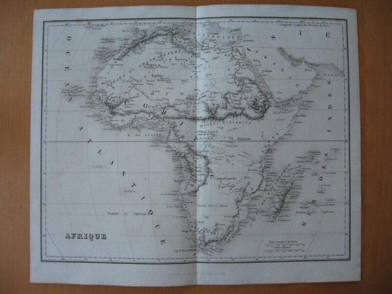 Small 1839 DUFOUR map -  AFRICA