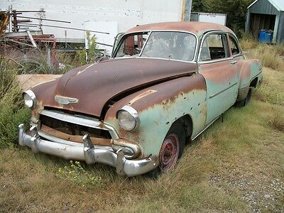50 51 52  53 54 Chevy Deluxe 2 dr Sedan 6 cyl rat rod vintage car