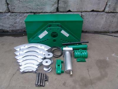 Greenlee 885 Hydraulic Bender 1 14 To 5 Inch With Pump Great Set