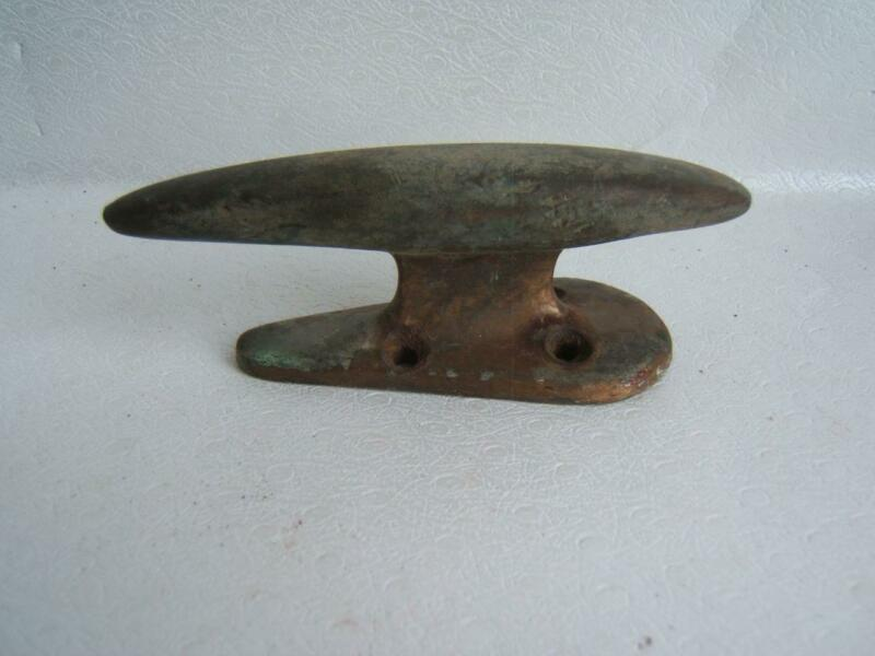 """VINTAGE BRASS BOAT CLEAT 4"""" LONG"""