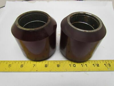 442 Polyurethane Smooth Hard Rubber Load Wheels 3-14 Od 2 Bore Lot Of 2