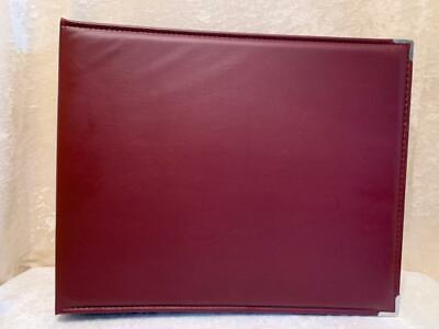 Faux Leather 3 Ring Binder Scrapbook Photo Album D Ring 13 X 16 Burgundy