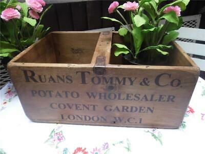 LARGE VINTAGE STYLE WOOD STORAGE BOX KING EDWARD POTATOE CRATE COVENT GARDEN FAB King Edward Potato