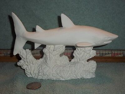 Shark in Ceramic Bisque U-Paint Ready to Paint Sharks Fish Ocean Sea