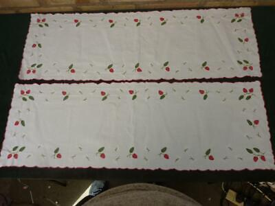 2 Lovely Vintage embroidered table runners 32