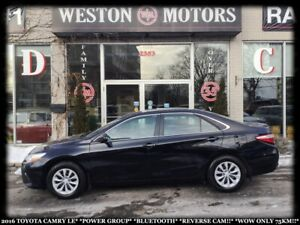 2016 Toyota Camry LE*PWR GRP*BTOOTH*REVERSE CAM!!*WOW ONLY 75KM!