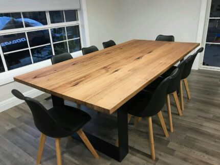 THE DANISH DINING TABLE TImber with metal legs Dining Tables