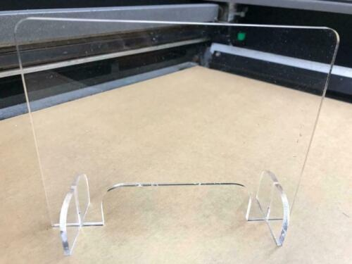 Sneeze Guard Barrier/Safety Plexiglass Barrier with cut out Office or Nail Salon