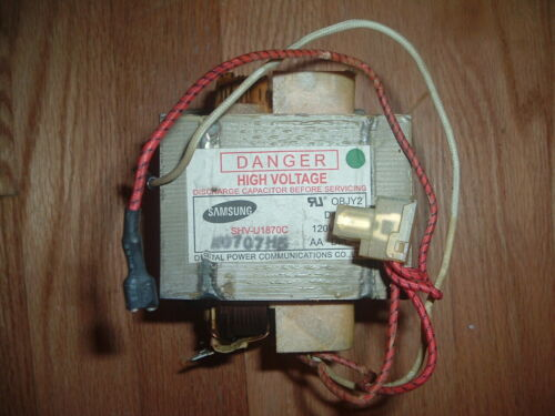 GE General Electric Microwave Oven High Voltage Transformer WB27X10910 Used