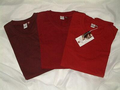 Cotton Muskel-shirt (Herren Muskel-Shirt-Unterhemd 6er Pack Cotton made in Africa Größe 6 Rottöne)
