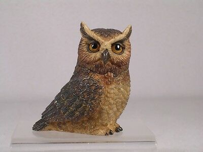 Owl Pot Belly - Harmony Kingdom Ball Pot Bellys / Belly 'Great Horn' Owl  #PBZOW4  New In Box