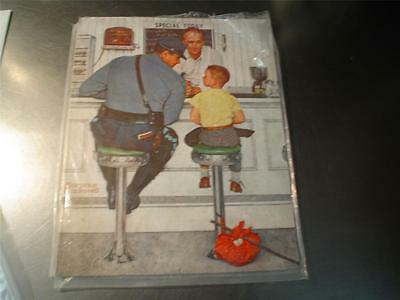 "4 ct lot Norman Rockwell reproduction prints 14"" x 11"" ready for framing"
