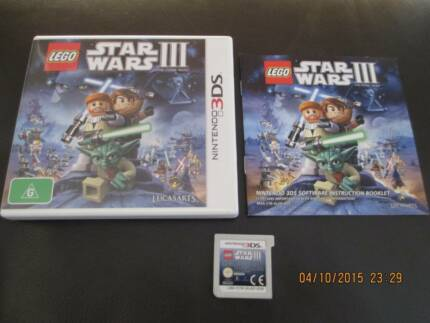 NINTENDO 3DS GAME - STAR WARS III - The Clone Wars Mawson Lakes Salisbury Area Preview