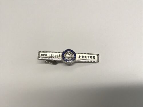 STATE OF NEW JERSEY POLICE TIE BAR TAC SILVER TONE TROOPER