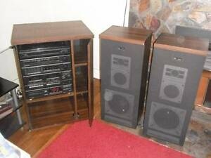 Pye Stereo Sound System 5 in 1, Speakers, Cabinet West Moonah Glenorchy Area Preview