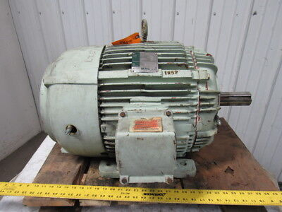 Westinghouse 40 Hp Electric Motor Mill Chemical 460v 3ph 60 Hz 324t Frame