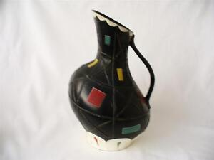 1950s Retro Vase - Brentleigh Ware Vase - Cortona Geometric Decoration