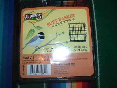 AUDUBON PARK EASY FILL SUET BASKET FOR WILD BIRD FEEDING-HOLDS ONE SUET CAKE (Wild Bird Suet Basket)