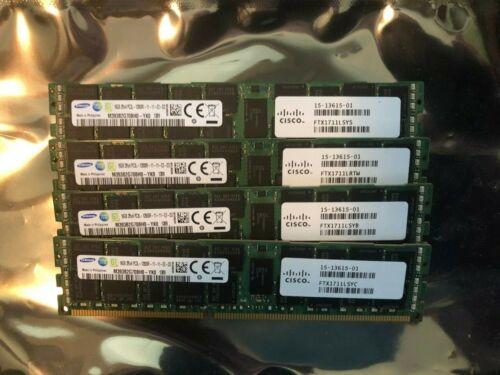Genuine Cisco 15-13615-01 UCS-MR-1X162RY-A 16GB DIMM for UCS Serv-Samsung Qty 1