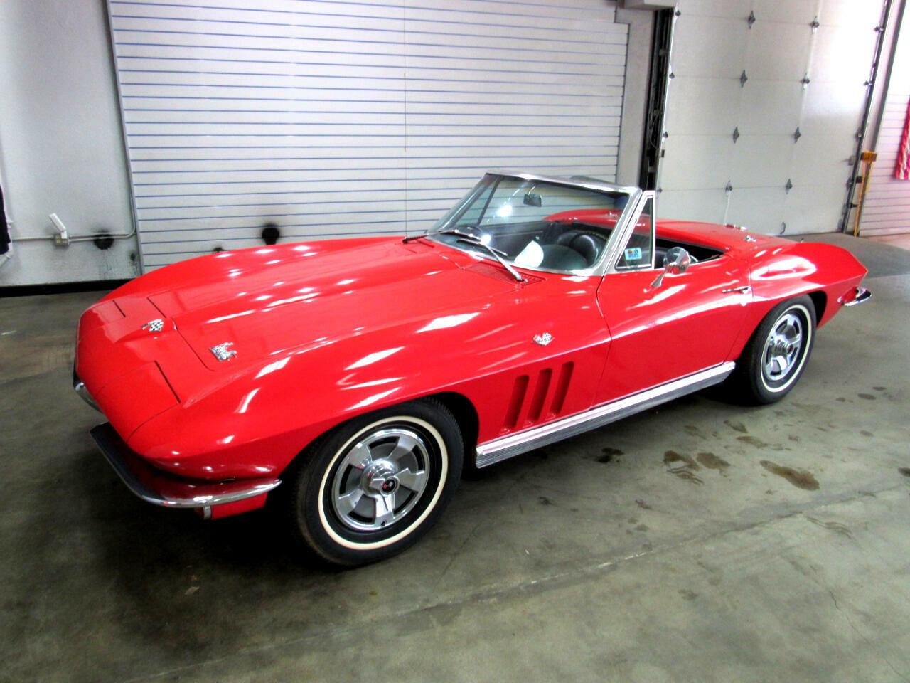 1966 Red Chevrolet Corvette Convertible    C2 Corvette Photo 1