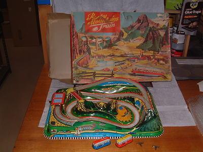 1965 Technofix Nr  312 Rocky Mountain Train Fully Working W Original Box  Sweet