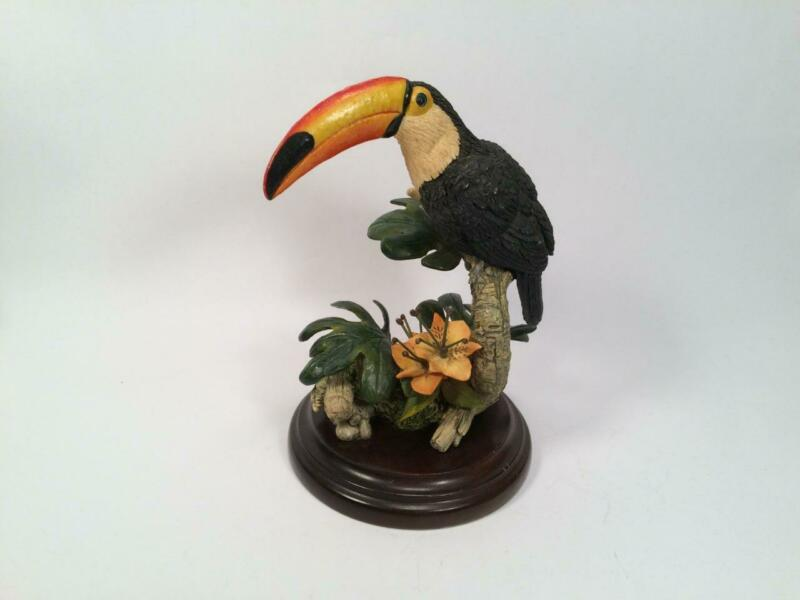 COUNTRY ARTISTS TOUCAN FIGURINE BY ARTIST MICHAEL ABBERLEY