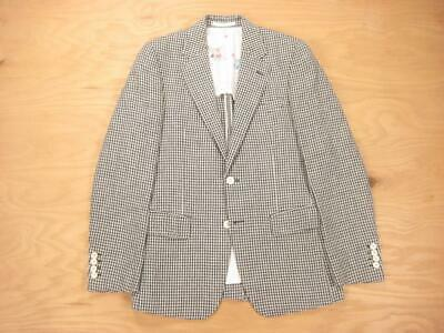 WACKO MARIA SS12 Japan LINEN GINHAM CHECK BLAZER (M) 36 XS Jacket Guilty Parties