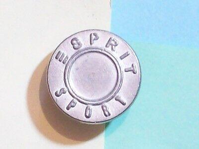 """BUTTON ESPRIT SPORT GREY ¾"""" DIAMETER"""