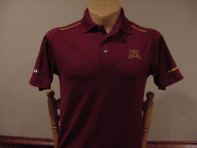 Beautiful Minnesota Gophers Mens Sm Maroon Pro Player Polo Shirt  Super Nice