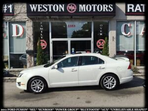 2011 Ford Fusion SEL*SUNROOF*PWR GRP*BTOOTH*AUX*WOW LOW KM!!*