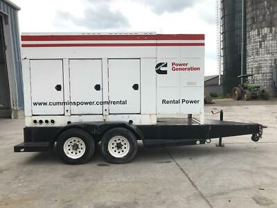 200 Kw Cummins Onan Generator Set Base Fuel Tank Sound Attenuated Trailer...