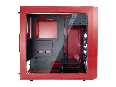Mystic Red ATX Mid Tower Modern Design Custom DIY PC gamer build Game Station