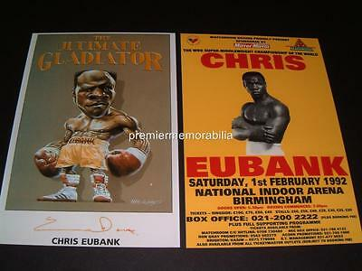 CHRIS EUBANK SIGNED BOXING LEGEND WORLD CHAMPION