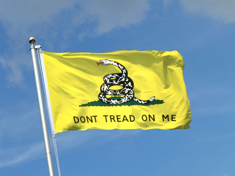 DONT TREAD ON ME DOUBLE SIDED EMBROIDERED 3