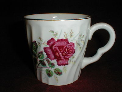 Enoch Wood & Sons England Red Rose ROSEWOOD Coffee/Tea Cup/Mug on Rummage