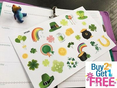 PP285 -- Small St. Patrick's Day Life Planner Stickers for Erin Condren (26pcs)