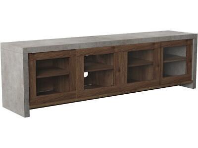 Furniture of America Gare Industrial Wood 70.86-Inch TV Stan