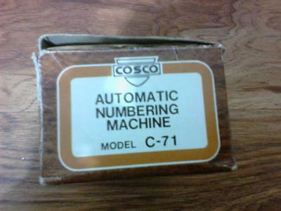 cosco numbering stamp instructions
