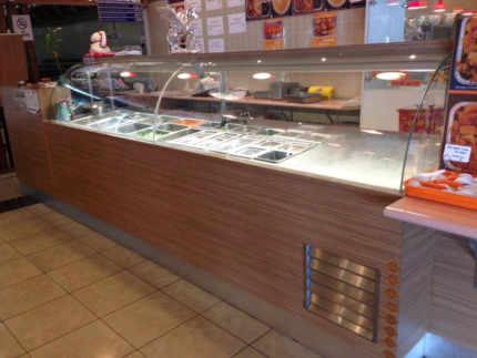 restaurant range and table,and  cold bar