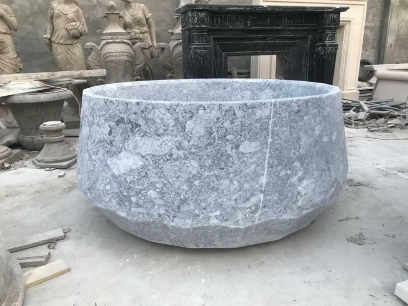 DESIGNER CARVED MARBLE ESTATE BEAUTIFUL BATHTUB - TUB64