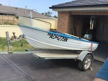 11 foot tinnie, dual purpose trailer 5hp boat Blue Haven Wyong Area Preview