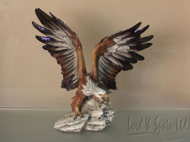 "Giuseppe Tagliariol Tay Italy 11 5/8"" American Eagle Bird Sculpture/Figurine"