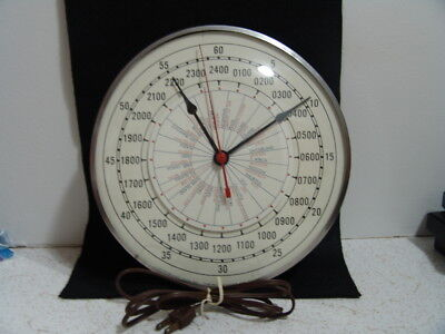 VINTAGE TIMING DEVICES COMPANY ELECTRIC WORLD CLOCK COPYRIGHT 1949 - WORKS