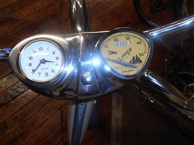 Stewart Warner bicycle Speedometer & clock SCHWINN COLUMBIA console dashboard